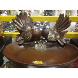 Twin Brown Birds Plate